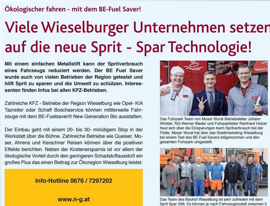 Referenzen Wieselburger Unternehmen